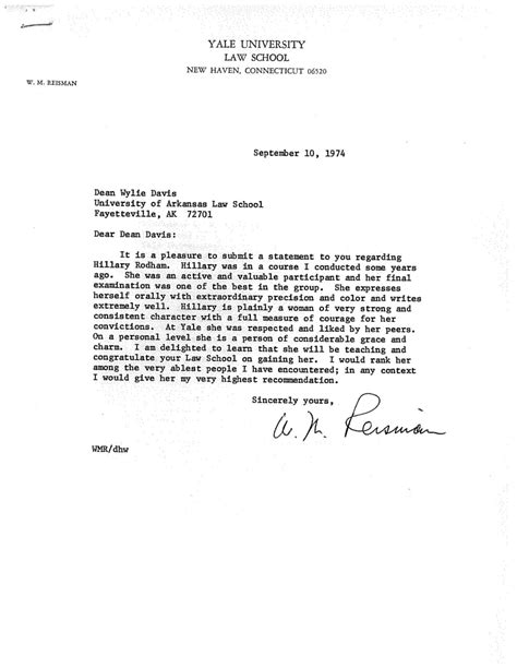 Recommendation Letter Yale Som sle letter of recommendation for school from