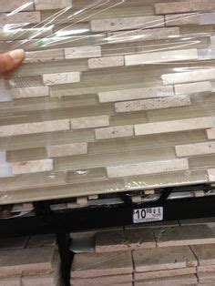glass tile backsplash i had installed by lowes love it glass marble white backsplash tile installed vertically in