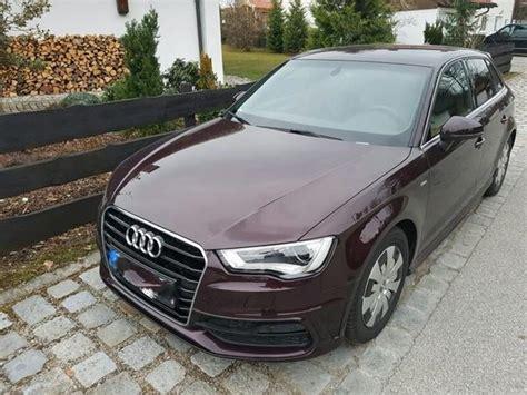 Audi A3 Gesucht by Audi A3 Sportback S Line Shirazrot Mettalic In Bad