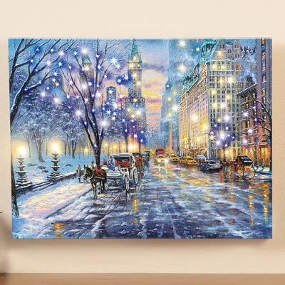 lighted central park canvas wall art  collections