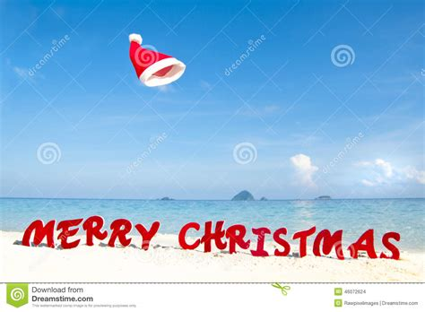 Resort Theme Ideas merry christmas on the beach theme stock photo image