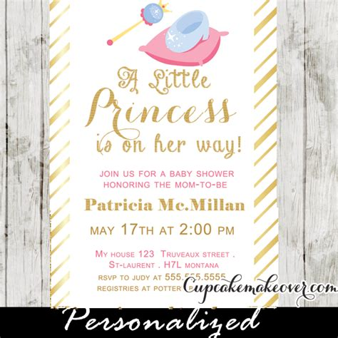 Baby Shower Invitations Princess Theme by Gold Foil Princess Theme Baby Shower Invitation