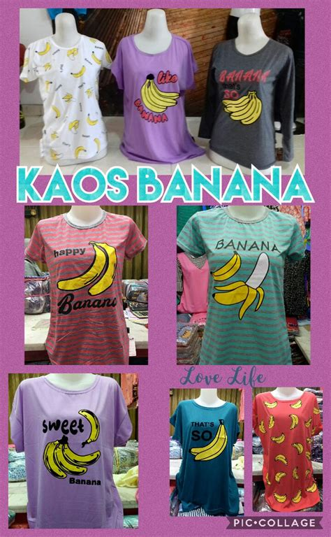 Kaos Tumbler Dewasa Banana produsen kaos banana cewe dewasa murah bandung 14ribu
