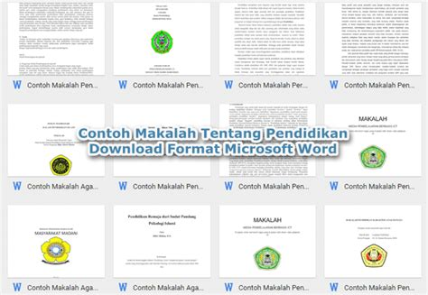 format makalah sederhana word contoh makalah tentang pendidikan download format