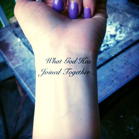 what god has joined together tattoo husband and quotes