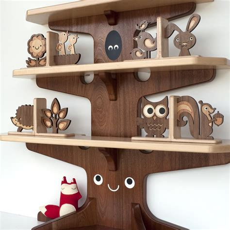 happy tree bookshelf graphic spaces