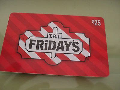 Tgif Gift Card - tgi fridays gift card 25 other pinterest