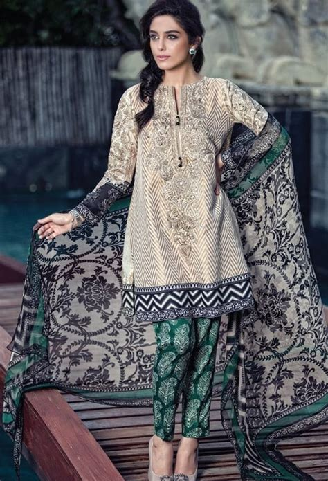 design dress lawn images of pakistani lawn dresses 2017 latest designer