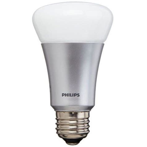 Single Led Light Bulbs Philips Hue 60w Equivalent A19 Single Led Light Bulb 431650 The Home Depot