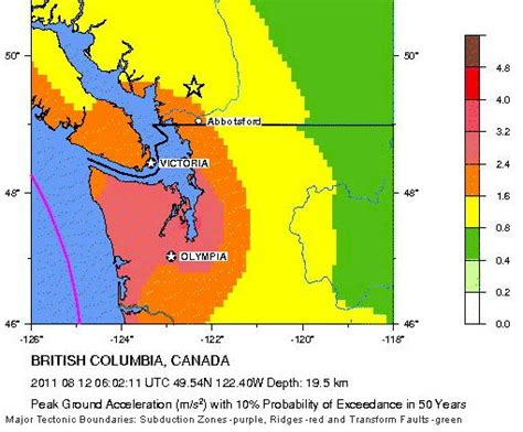earthquake zones in canada greater vancouver area gets a wake up call for earthquake