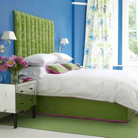 blue and green bedroom vibrant blue and green bedroom housetohome co uk