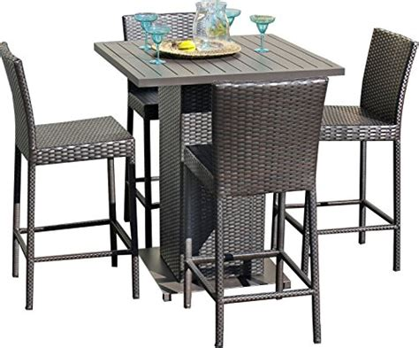 Outdoor Pub Table And Stools by Tk Classics Napa Pub Withback 4 5 Napa Pub Table Set With Barstools Outdoor Wicker Patio