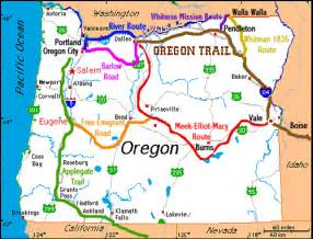 oregon trail on a map oregon trails in oregon