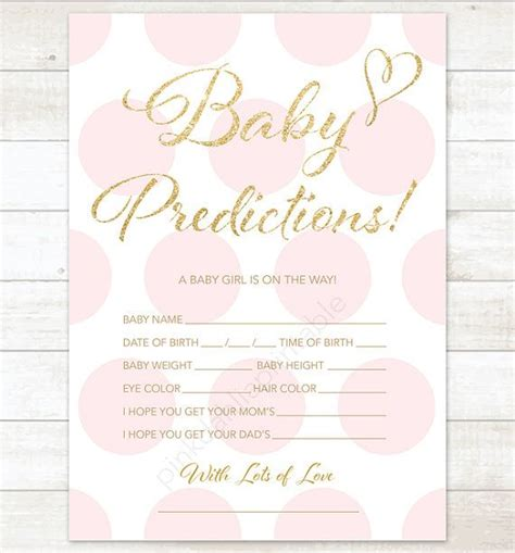 Baby Shower Prediction Cards Template by Best 25 Baby Prediction Ideas On Sprinkle