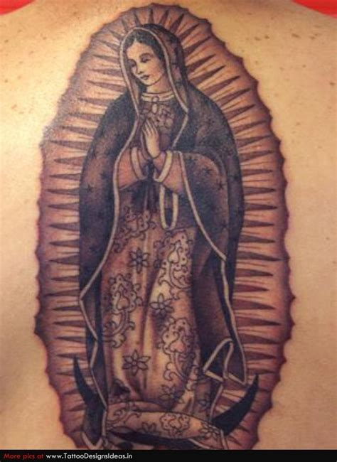 virgin mary back tattoo catholic half sleeve tattoos images