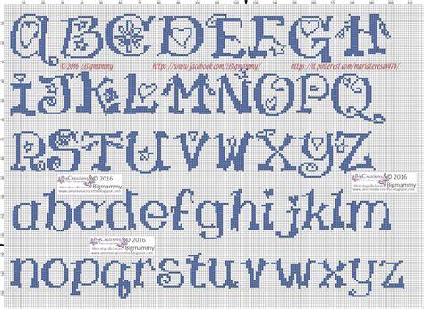 schemi di lettere a punto croce amorevitacrocette ancora tanti alfabeti a punto croce