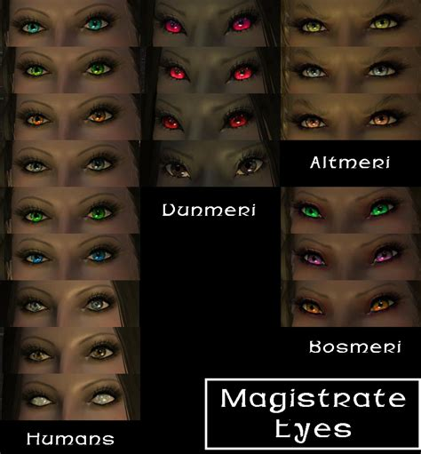 skyrim eye color magistrate at skyrim nexus mods and community