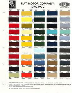 Fiat Color Codes Fiat Color Codes 70 72 On The Side Color
