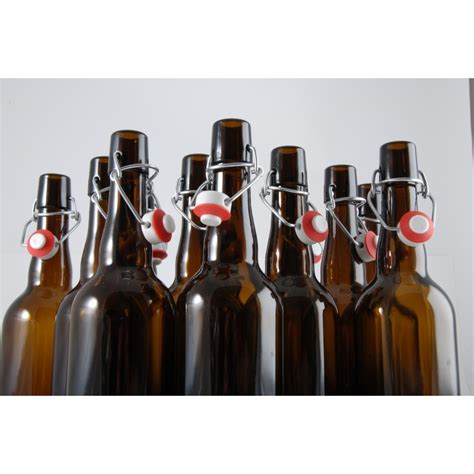 swing top bottle stoppers beer bottles 12 x 750 ml with swing top stopper