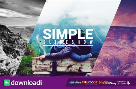 Simple Fast Slideshow Videohive Free Download Free After Effects Template Videohive Projects Videohive After Effects Templates Free