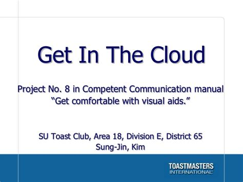 get comfortable with visual aids get in the cloud