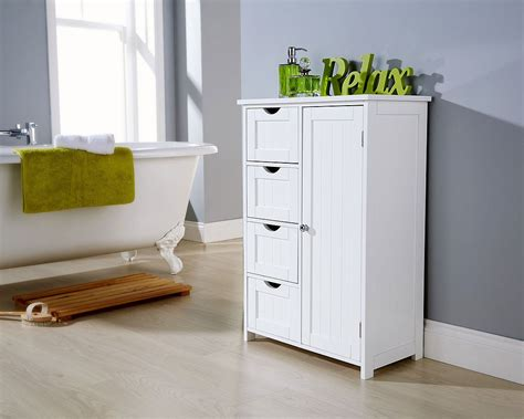 White Multi Storage Bathroom Unit One Stop Furniture Shop Bathroom Furniture Storage