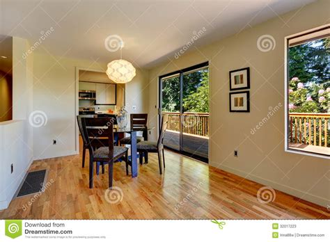 Large Open Space With Dining Room Table And Balcony Door. Stock Image Image: 32017223