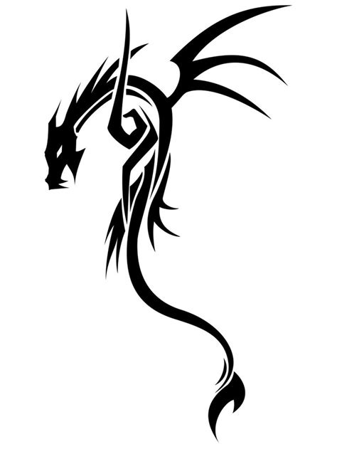 simple tribal dragon tattoo 22 best images on