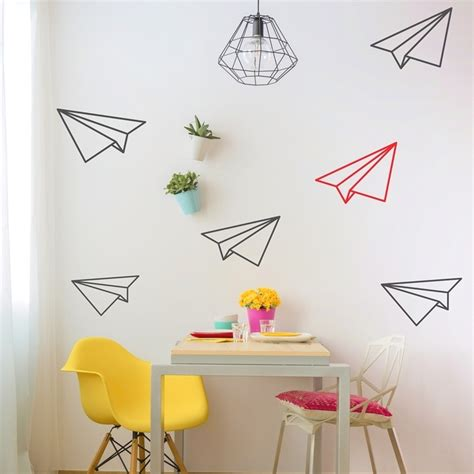planes wall stickers paper planes wall decals mywalltattoos