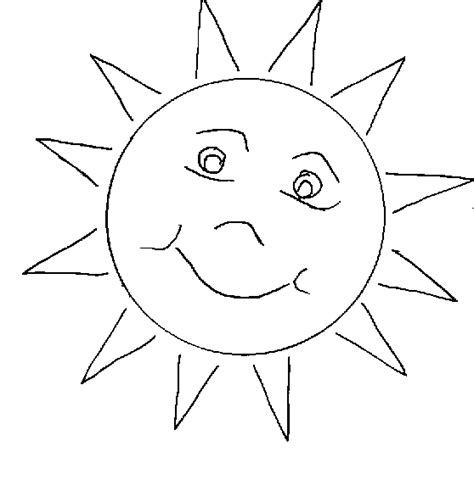 Funny Sun Coloring Pages To Printable Sun Colouring Page