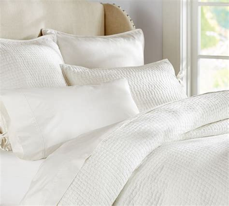 white bed coverlet pick stitch quilt sham pottery barn quilt coverlet in