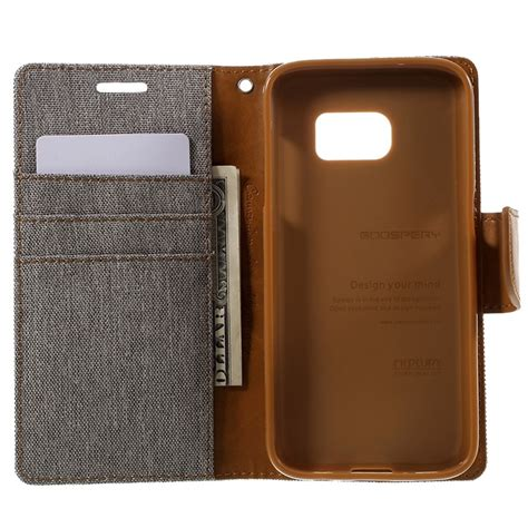 Canvas Diary Mercury Ori For Samsung Galaxy S7 Blackblack samsung galaxy s7 mercury goospery canvas diary wallet grey