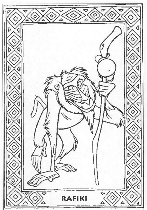monkey king coloring page lion king monkey coloring pages