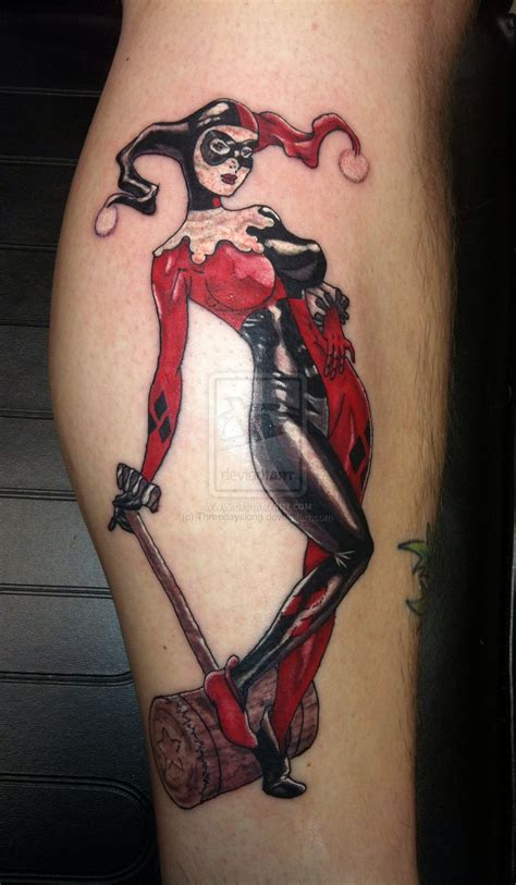 harley quinn tattoos harley quinn by threedayslong on deviantart