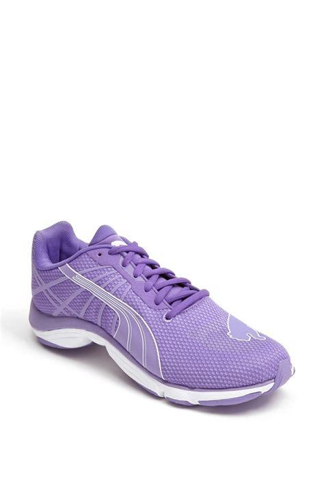 running shoes purple mobium elite glow running shoe in purple fluo purple