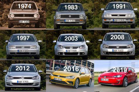Golf Auto Modelle by Vw Golf 1 Bis 7 Im Die Geschichte Des Golf