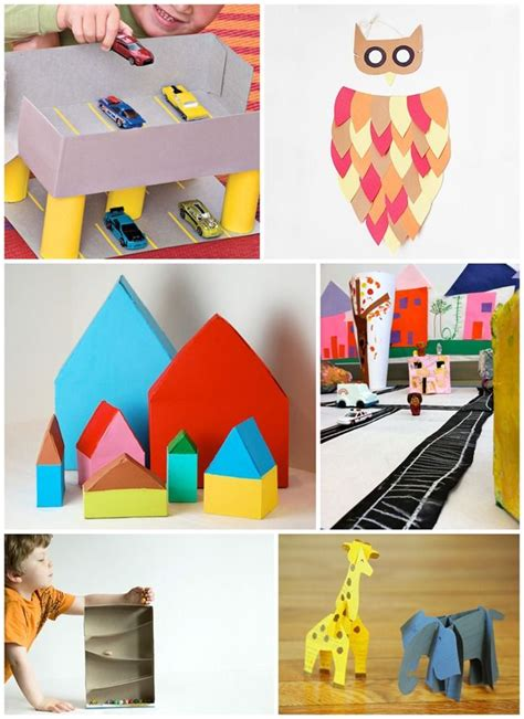 Arts And Crafts Made Out Of Paper - 99 best images about 101 things to do with a cardboard box
