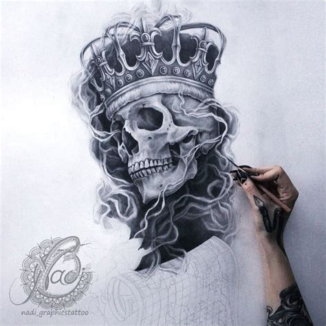 tattoo love evil king skull tattoolove pinterest awesome i love and