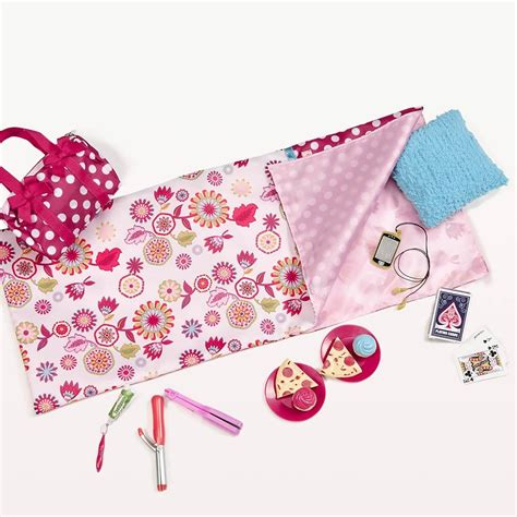 sleep accessories our generation polka dot sleepover set og doll polka dot