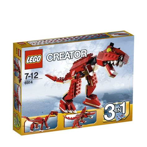 Set Fash 3in1 1 lego creator prehistoric hunters 3 in 1 6914 toys zavvi