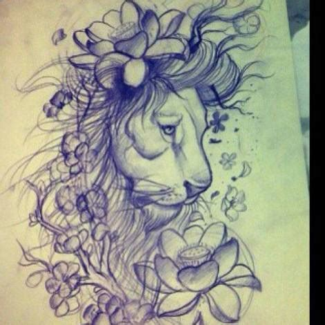tattoo old school leone tatuaggi i tattoo leone