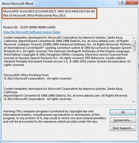 What Is The Version Of Office Check Your Version Of Office 2013
