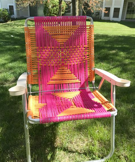 Macrame Lawn Chair by Sweet And Sassy Macrame Lawn Chair Twist