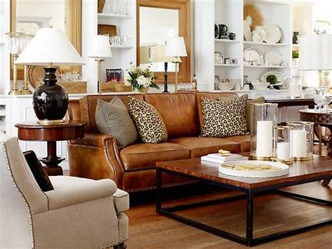 classic luggage tan leather family room facelift