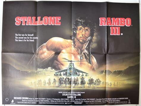 film movie rambo 3 rambo iii a k a rambo3 original cinema movie poster