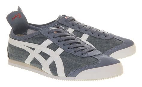 Sepatu Onitsuka Tiger 66 White Blue onitsuka tiger mexico 66 blue white chambray in blue for lyst