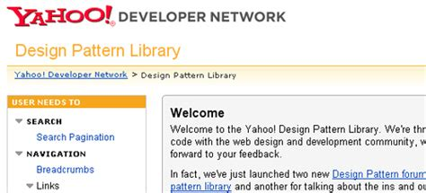 pattern library yahoo 好看实用 20个网站帮你掌握用户界面设计 站长之家