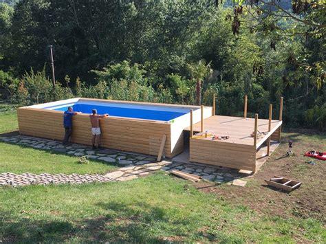 rivestimento in legno per piscine fuori terra accessori per piscine e coperture prezzi e offerte intex