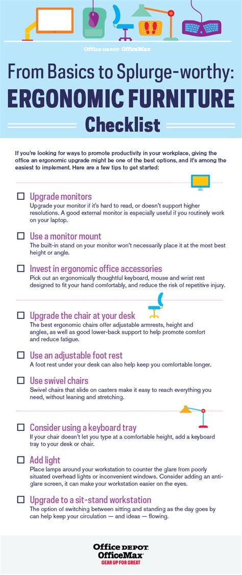 spring cleaning flyer from basics to splurgeworthy ergonomic furniture checklist