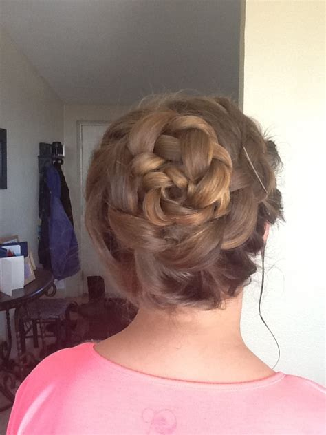 in u shape hair how we made ponytail part your hair to the side loosely do an inside out braid